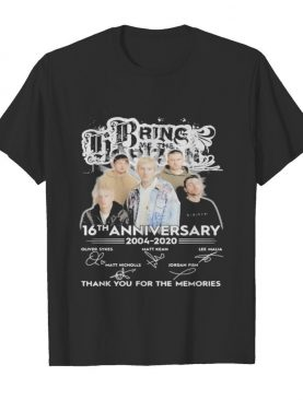 Bring me the horizon 16th anniversary 2004 2020 thank for the memories signatures shirt