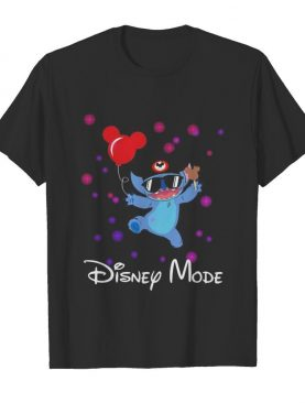 Disney mode stitch holding balloon mickey mouse shirt