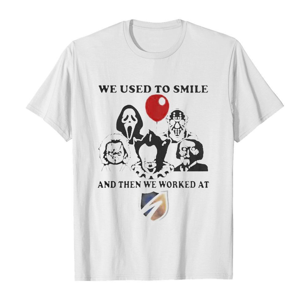 Halloween horror characters we used to smile and then we worked at swift  Classic Men's T-shirt