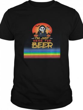 I'm Just Here For Beer Halloween Halo Funny Ghost shirt