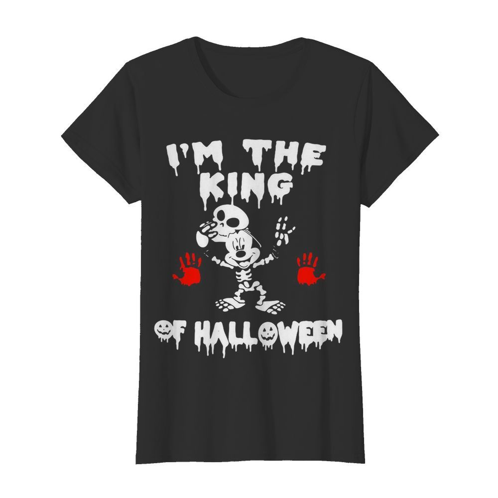 I'm The King Of Halloween Mickey Mouse Disney  Classic Women's T-shirt