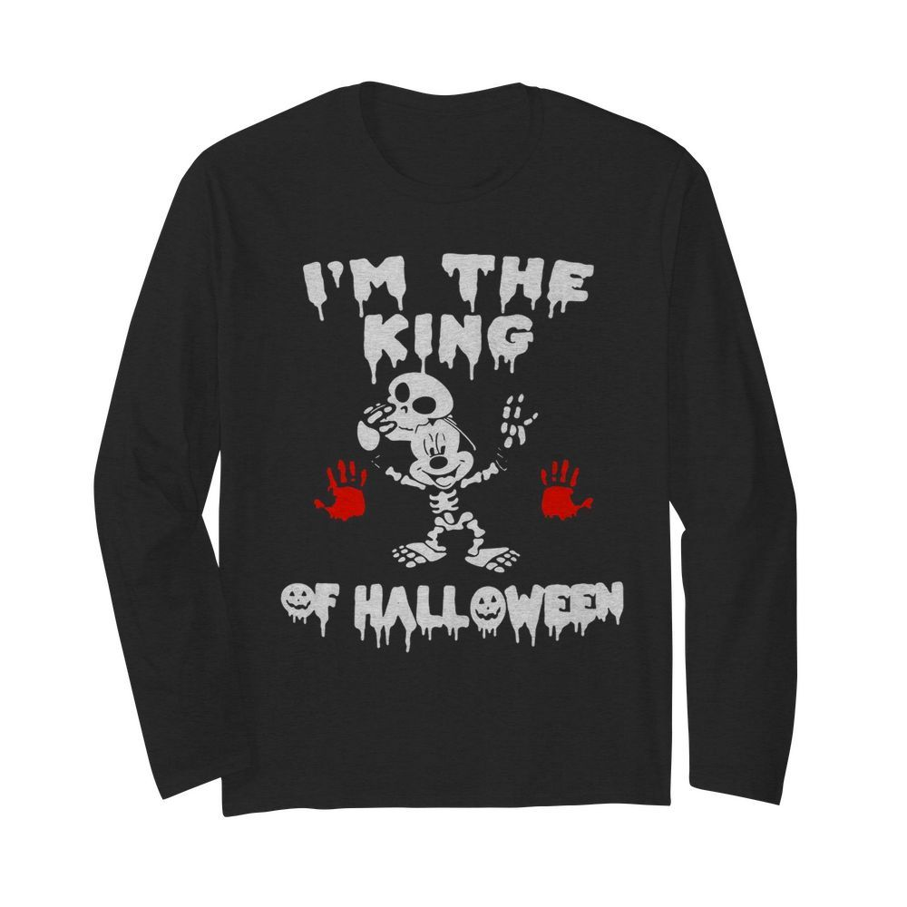 I'm The King Of Halloween Mickey Mouse Disney  Long Sleeved T-shirt