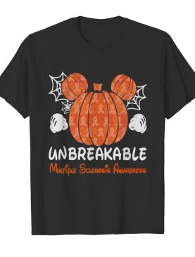 Mickey mouse pumpkin unbreakable multiple sclerosis awareness shirt