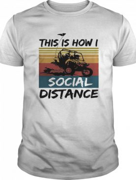 Motorcycle this is how i social distance vintage retro shirt