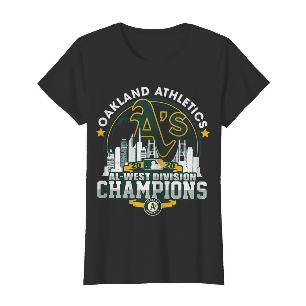 Oakland Athletics 2020 Al West Division Champions  Classic Women's T-shirt