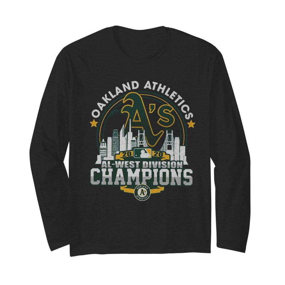 Oakland Athletics 2020 Al West Division Champions  Long Sleeved T-shirt
