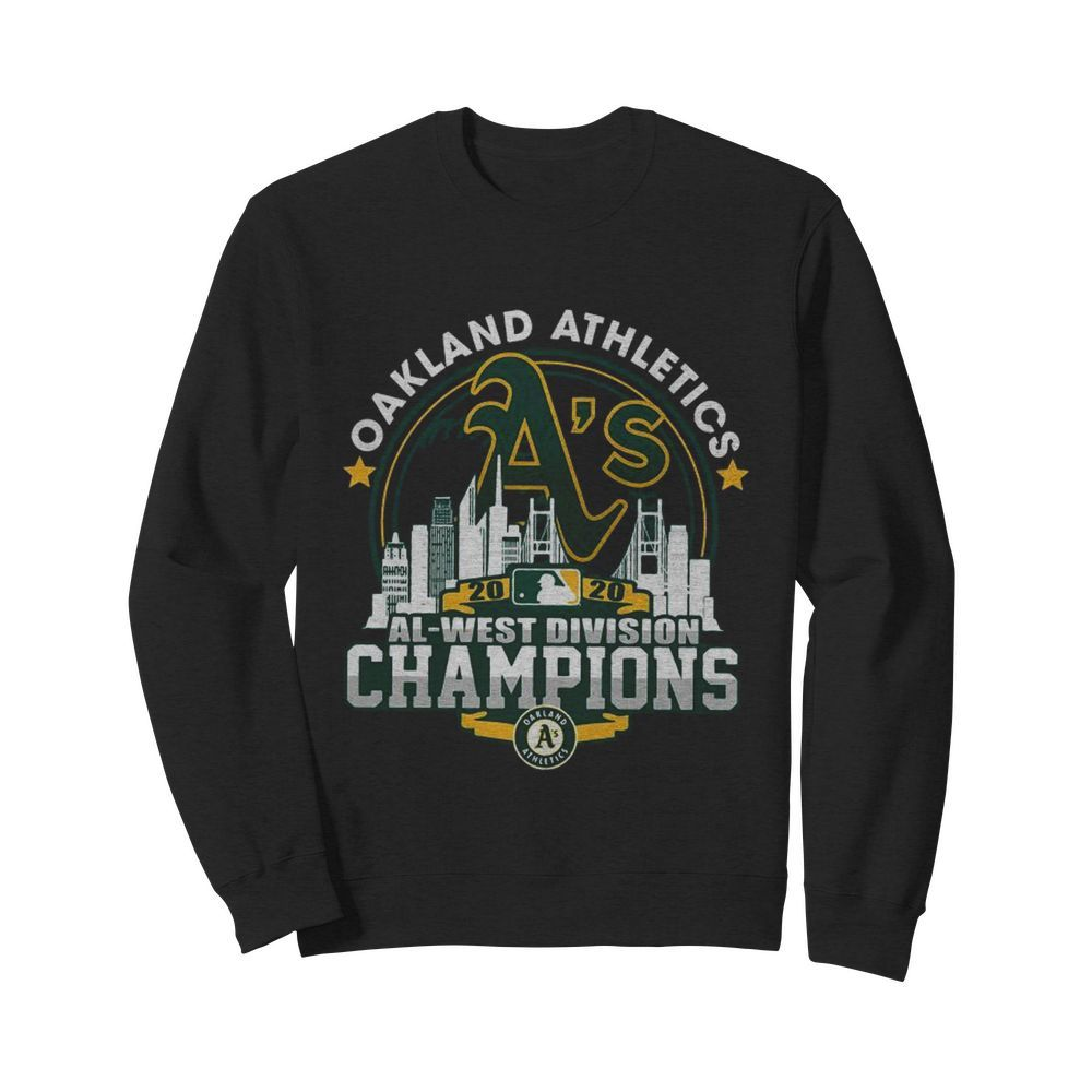 Oakland Athletics 2020 Al West Division Champions  Unisex Sweatshirt