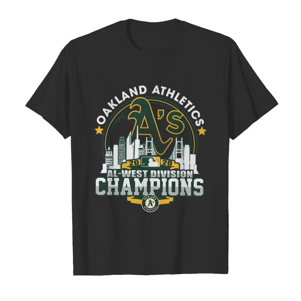 Oakland Athletics 2020 Al West Division Champions  Classic Men's T-shirt
