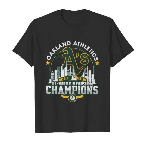 Oakland Athletics 2020 Al West Division Champions shirt