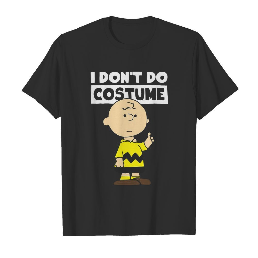 Peanuts Charlie Brown I Don't Do Costume Halloween  Classic Men's T-shirt