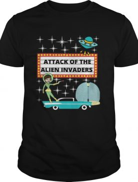 Retro 50s Scifi Attack of the Alien Invaders shirt