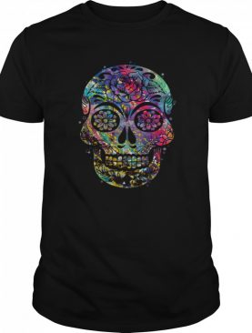 Sugar Skull Watercolor Day Of The Dead Dia De Muertos shirt