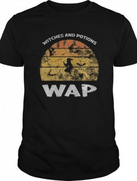 WAP Witches And Potions Retro Sunset Funny WAP wordplay shirt