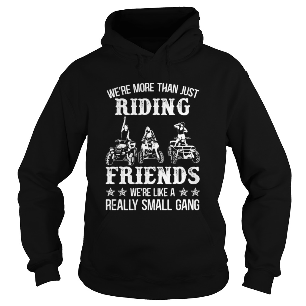 WERE MORE THAN JUST RIDING FRIENDS WERE LIKE A REALLY SMALL GANG ATV  Hoodie