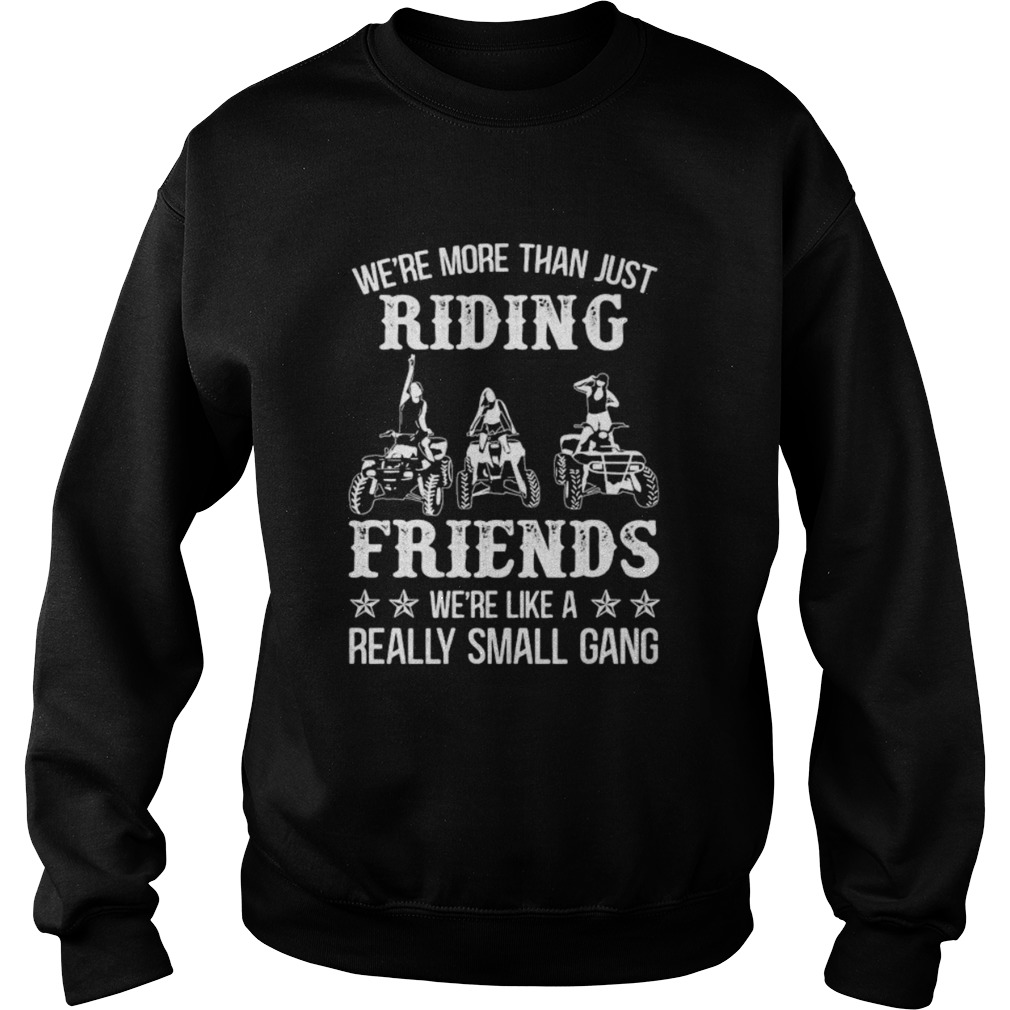 WERE MORE THAN JUST RIDING FRIENDS WERE LIKE A REALLY SMALL GANG ATV  Sweatshirt