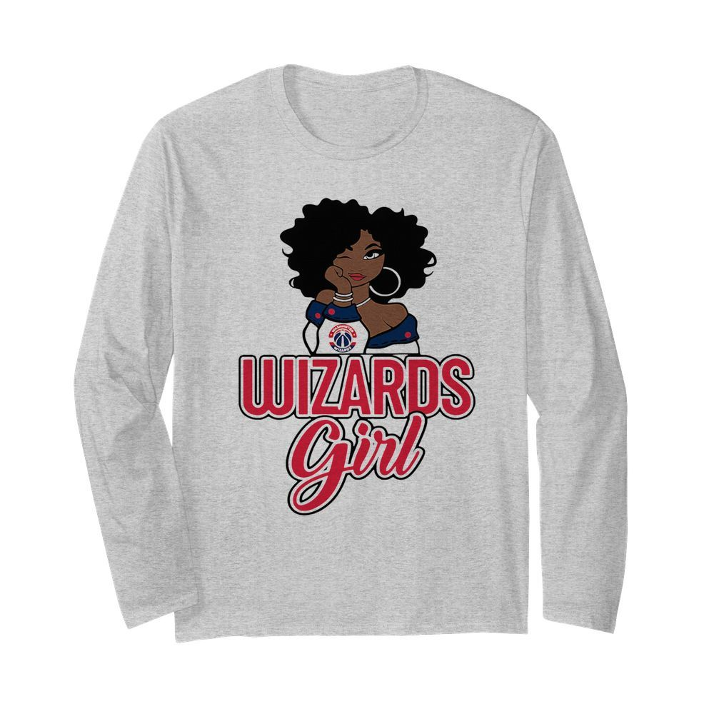 Women Washington Wizards Girl  Long Sleeved T-shirt