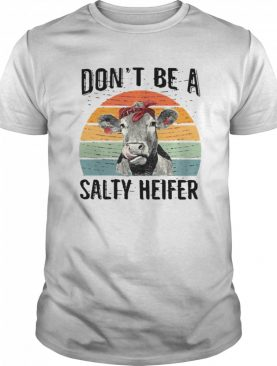 Don't Be A Salty Heifer Funny shirt