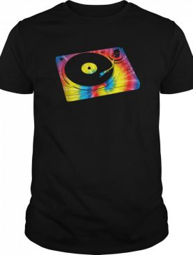 Retro Record Player Turntable Tie Dye Music shirt