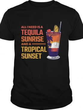 Beach Allineed Is A Tequila Sunrise And A Tropical Sunset shirt