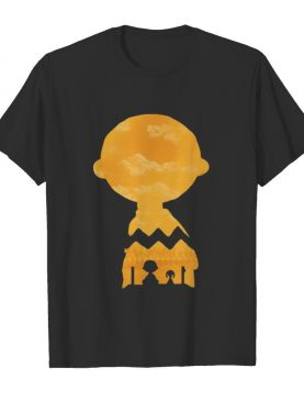 Charlie brown and snoopy sightseeing sky shirt