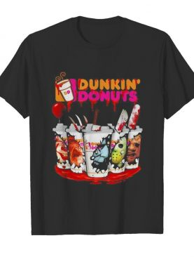 Dunkin Donuts Horror character Halloween michael myers IT shirt