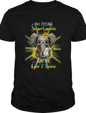 Elephants Sunflower Im Feeling Supersonic Give Me Gin And Tonic shirt