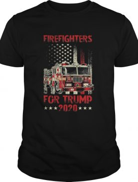 Firefighters For Trump 2020 Fire Truck American Flag shirt