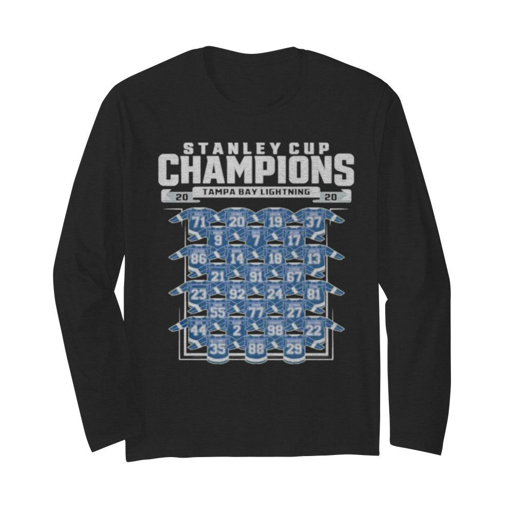 Good Tampa Bay Lightning 2020 Stanley Cup Champions Roster  Long Sleeved T-shirt