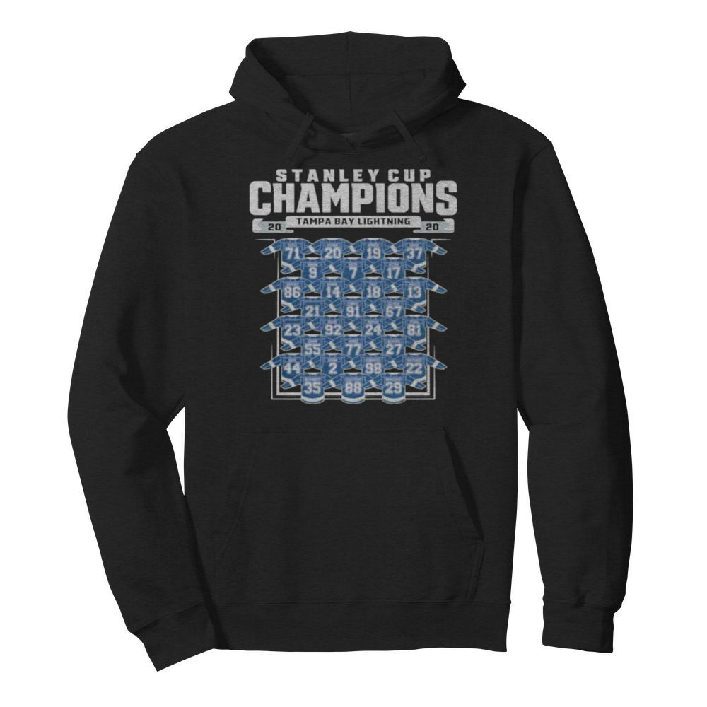 Good Tampa Bay Lightning 2020 Stanley Cup Champions Roster  Unisex Hoodie