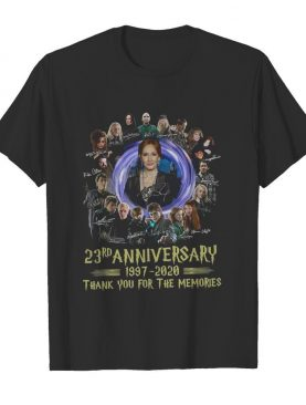 Harrypotter 23rd Anniversary 1997-2020 Thank You For The Memories Signatures shirt
