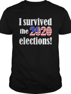 I Survived The Election 2020 American Flag shirt