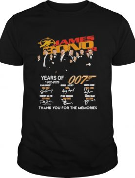 James Bond 007 Years Of 19622020 Thank You For The Memories shirt