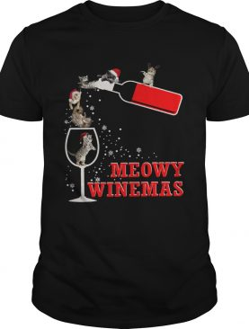 Meowy Winemas Christmas shirt