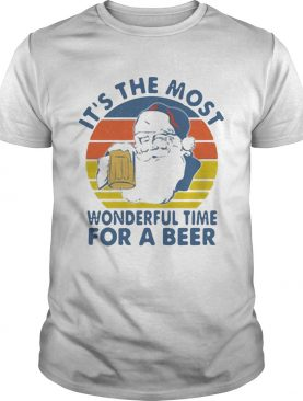 Santa Its The Most Wonderful Time For A Beer Vintage shirt