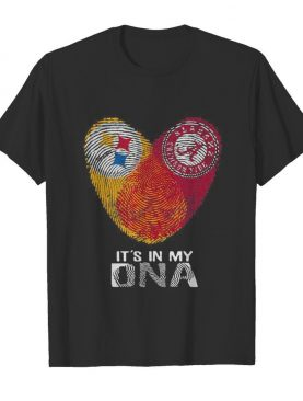 Steelers Alabama Crimsontide It's In My Dna Heart Fingerprints shirt