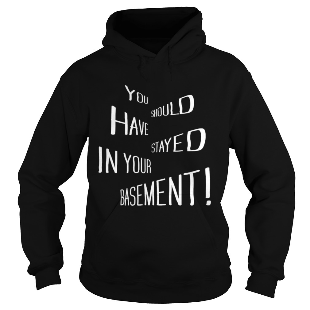 You Should Have Stayed In Your Basement  Hoodie