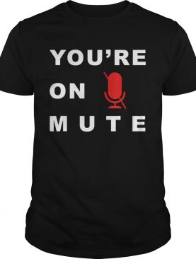 Youre On Mute Funny Quarantine Quote Novelty shirt