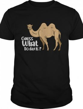 Camel Wednesday Guess What Day It Is shirt