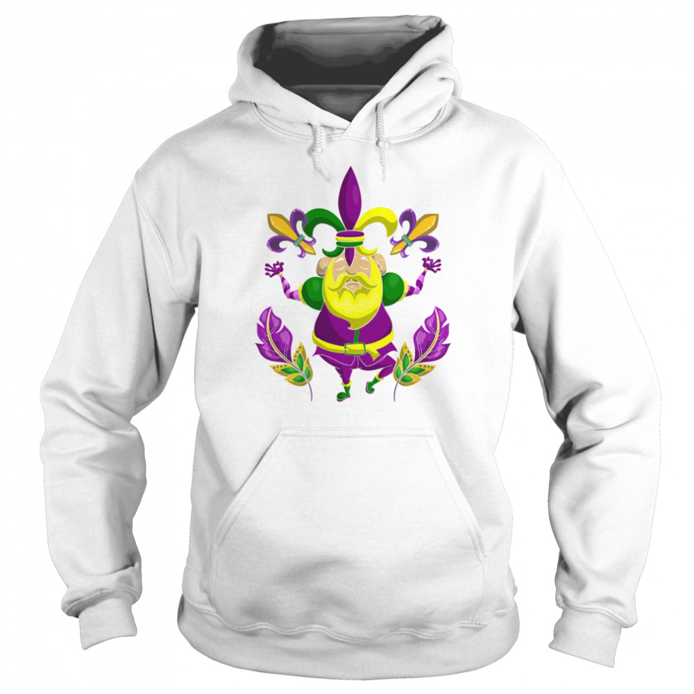 Carnival Clown Costume Party New Orleans Mardi Gras  Unisex Hoodie