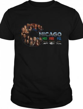 Chicago Med Fire PD Signatures shirt