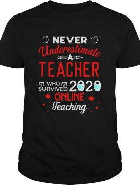 Never underestimate a teacher who survived 2020 toilet paper online teaching shirt