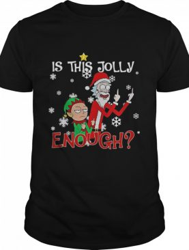Rick Sanchez and Elf Morty is this jolly enough Christmas shirt