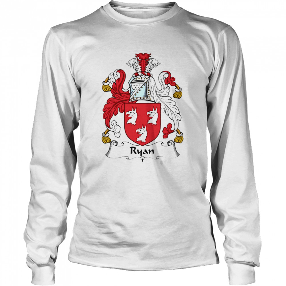 Ryan Coat Of Arms Family Crest  Long Sleeved T-shirt