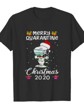 Snoopy face mask Merry Quarantine Christmas 2020 shirt