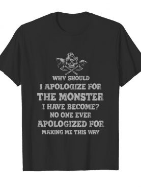 Why Should I Apologize For The Monster shirt