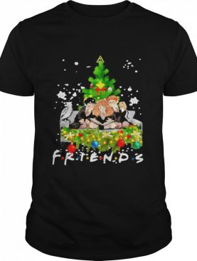 friends harry potter hermione and ron weasley christmas tree shirt