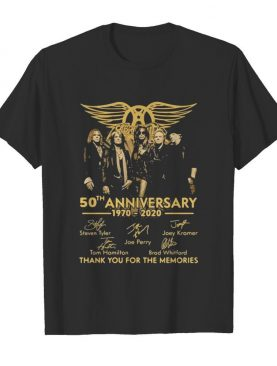 50th Anniversary 1970 2020 Thank You For The Memories Signature shirt