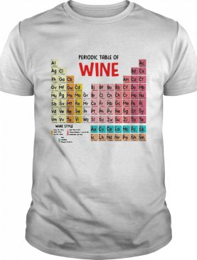 The Chemistry Periodic Table Of Wine shirt