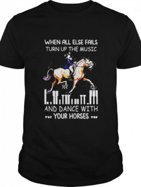 When all else fails turn up the music and dance with your horses shirt